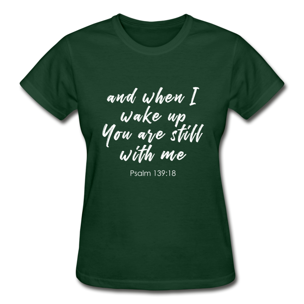 Psalm 139:18 Women Tees - forest green