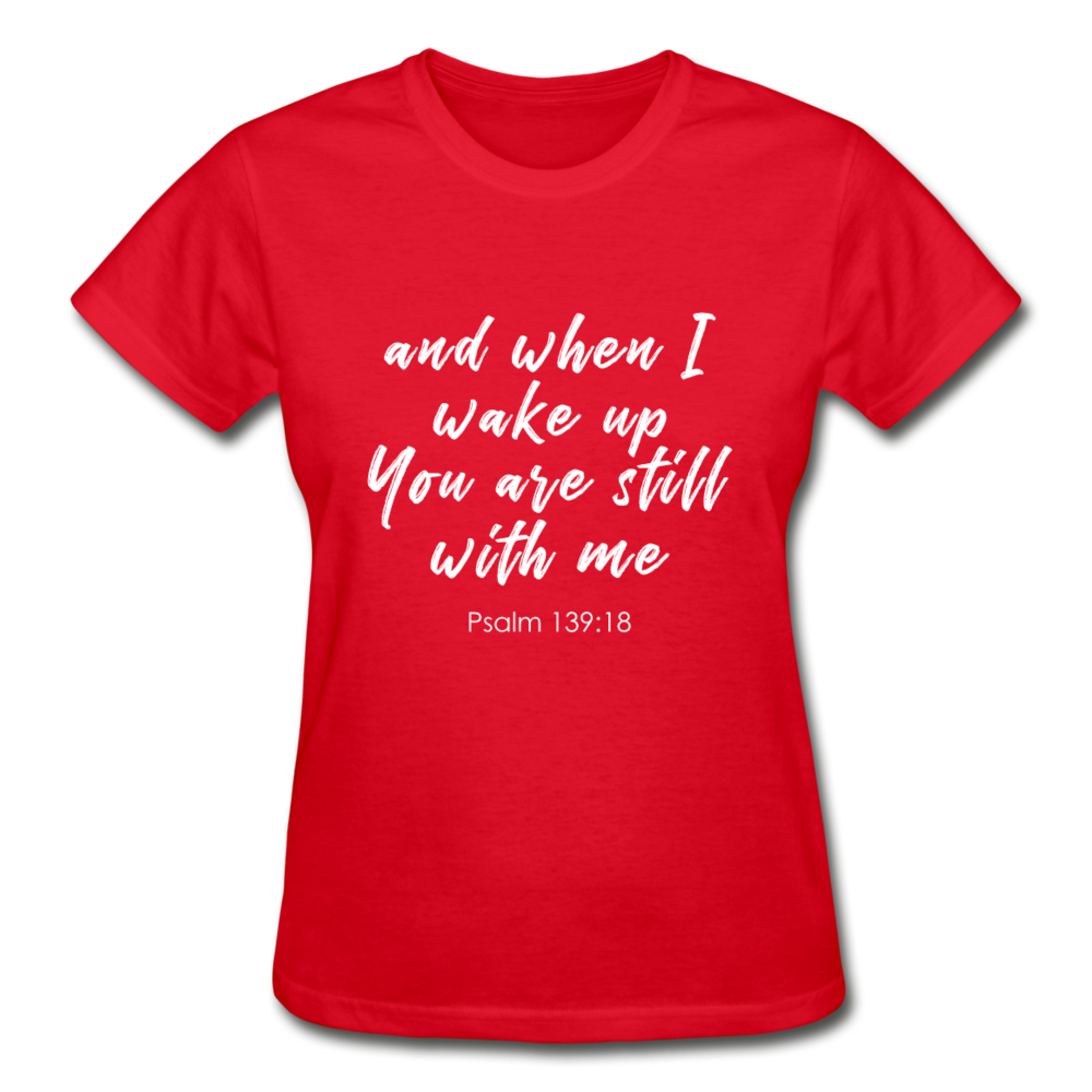 Psalm 139:18 Women Tees - red