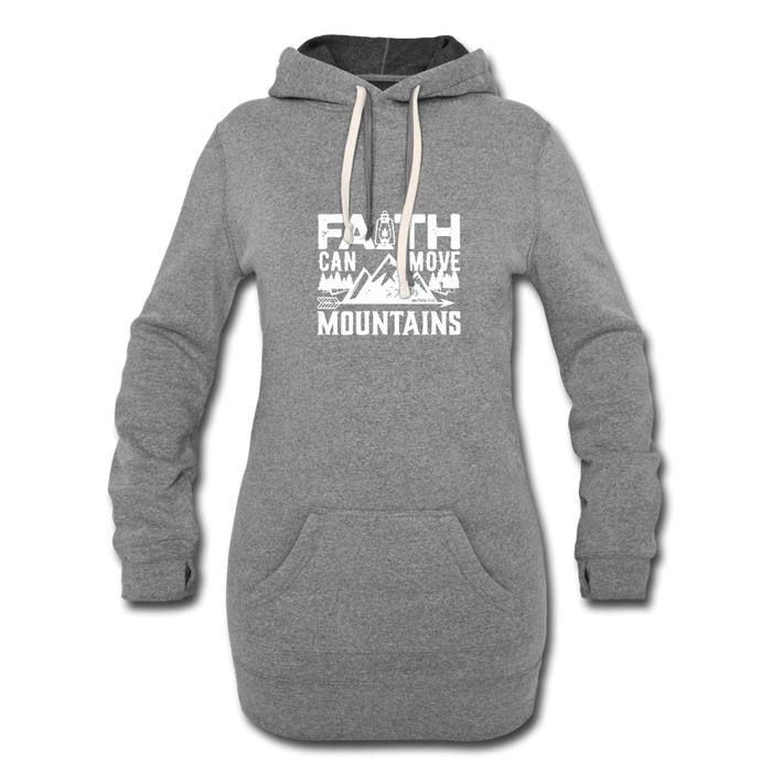 Faith Women's Hoodie Dress - heather gray
