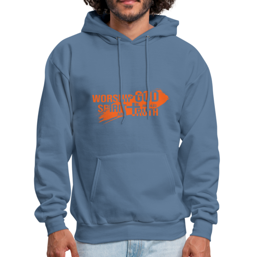 John 4:23 Men's Hoodie - denim blue