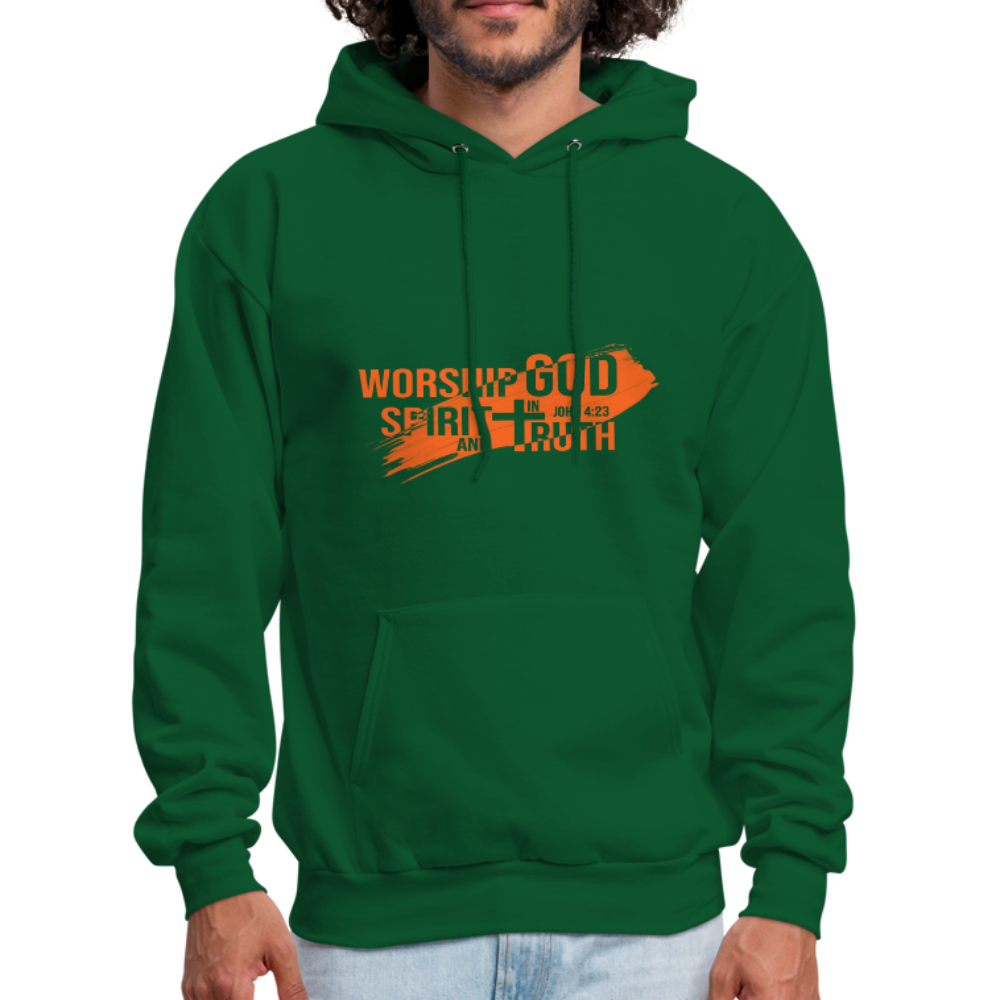 John 4:23 Men's Hoodie - forest green