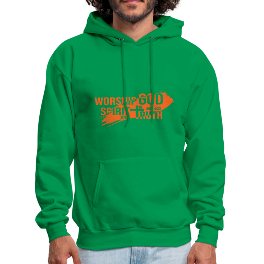 John 4:23 Men's Hoodie - kelly green