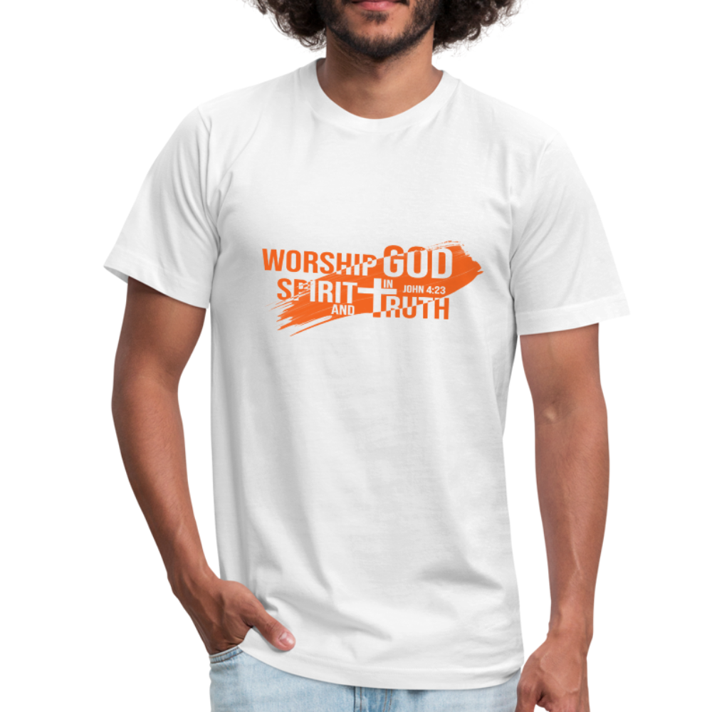 Worship God In Spirit & In Truth Men's Tees - white