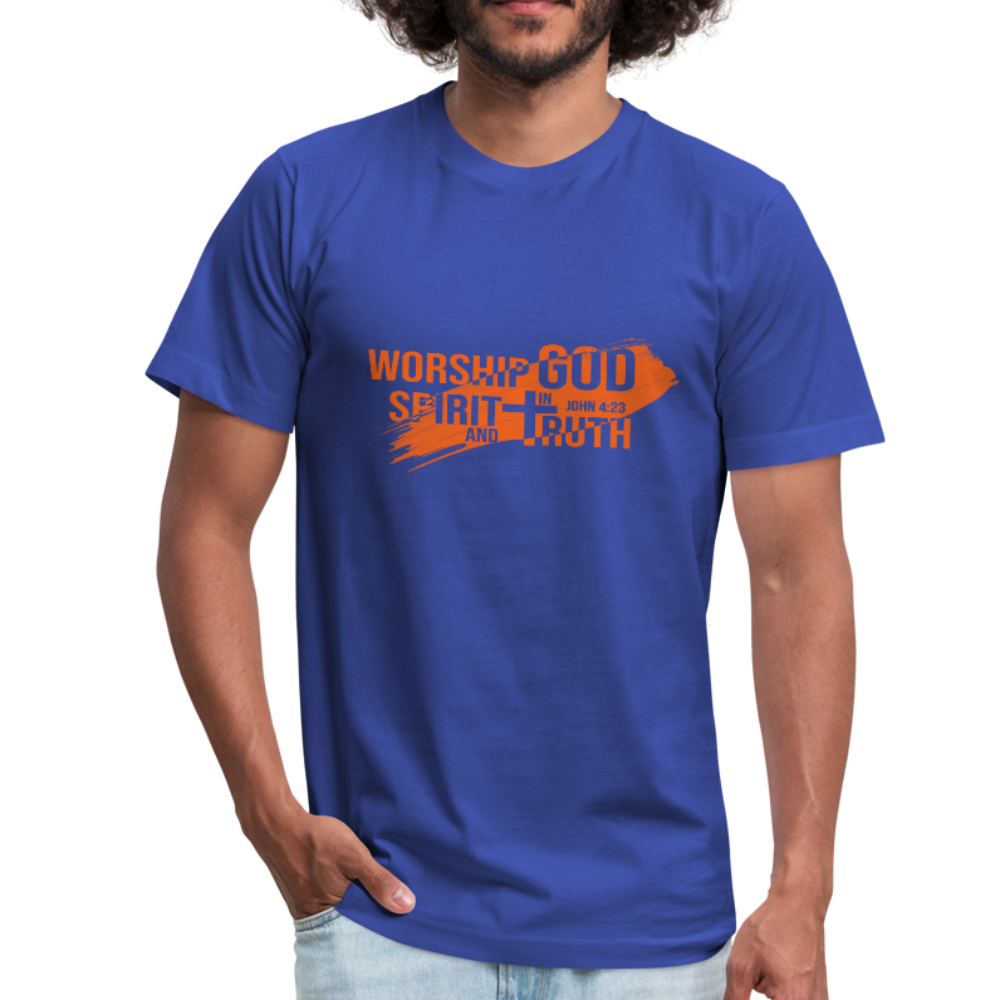 Worship God In Spirit & In Truth Men's Tees - royal blue