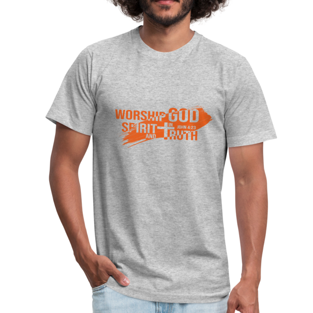 Worship God In Spirit & In Truth Men's Tees - heather gray