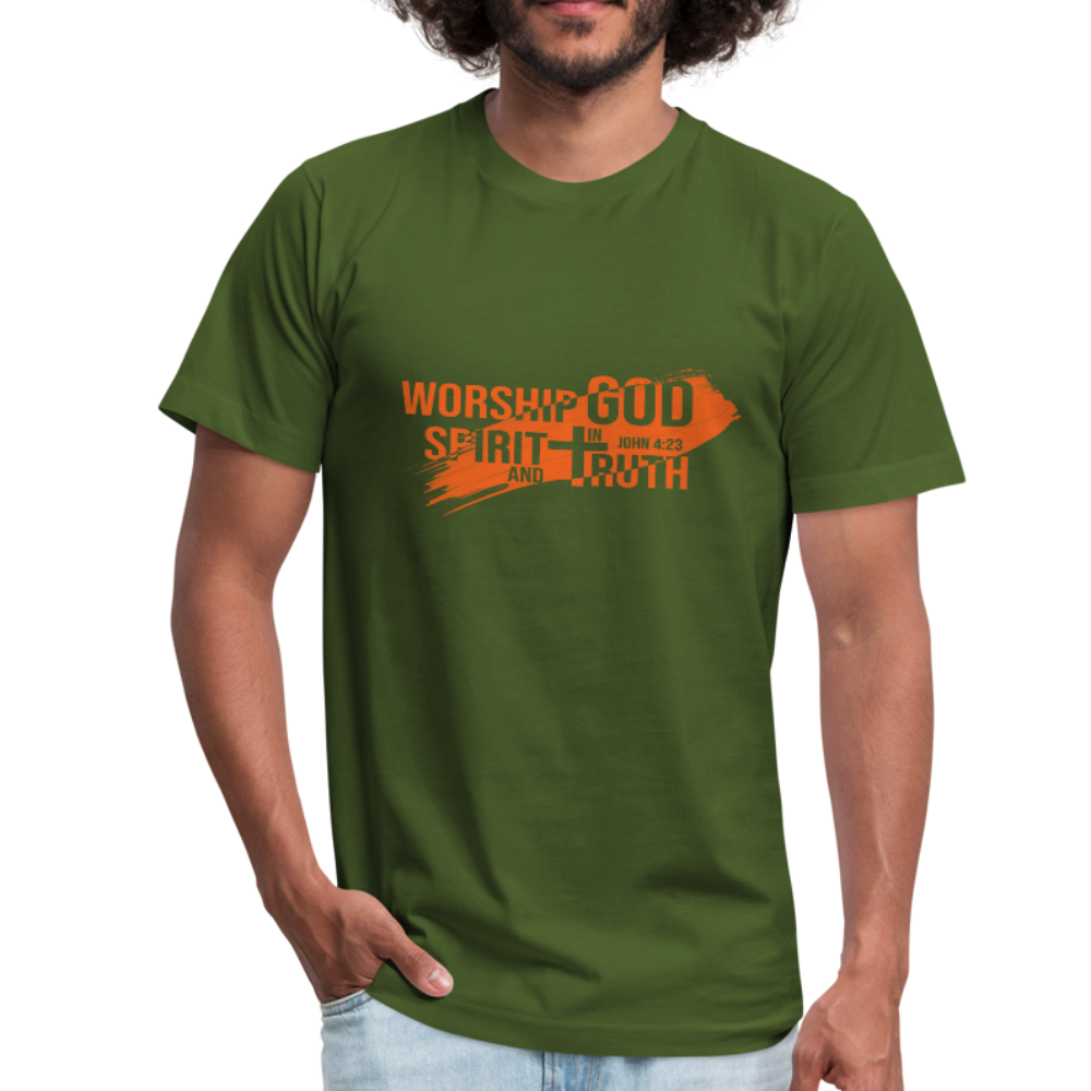 Worship God In Spirit & In Truth Men's Tees - olive