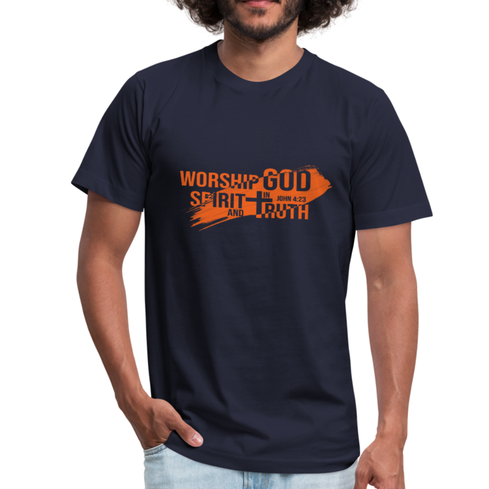 Worship God In Spirit & In Truth Men's Tees - navy
