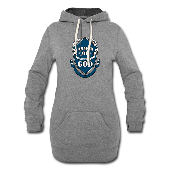 Armor Of God Women's Hoodie Dress - heather gray