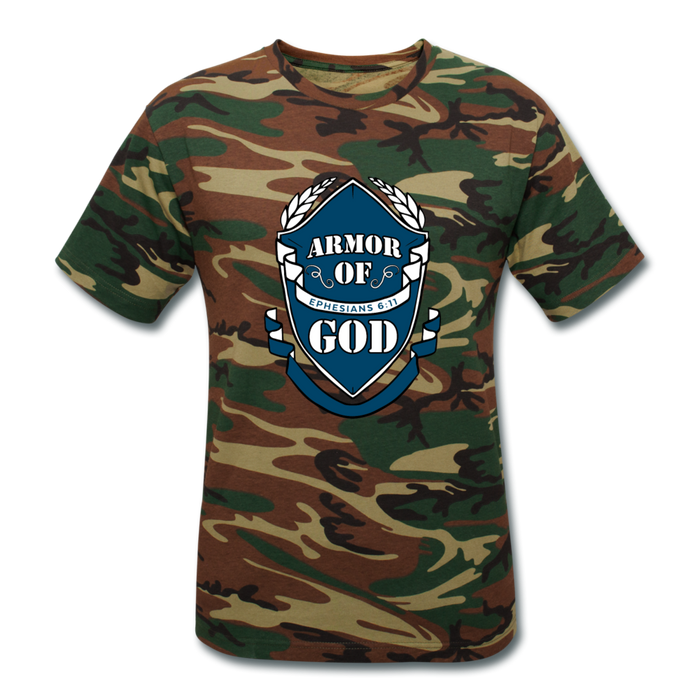 Armor Of God Unisex Camouflage T-Shirt - green camouflage