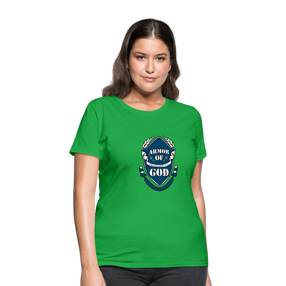 Armor Of God Women's Tees - bright green