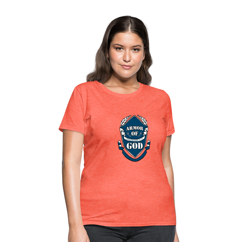 Armor Of God Women's Tees - heather coral