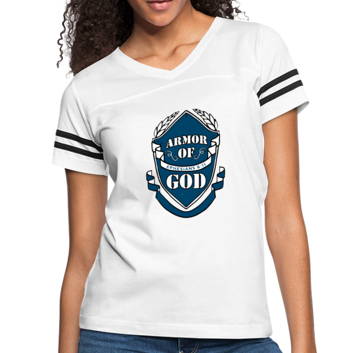 Armor Of God Women's Vintage Sport Tees - white/black