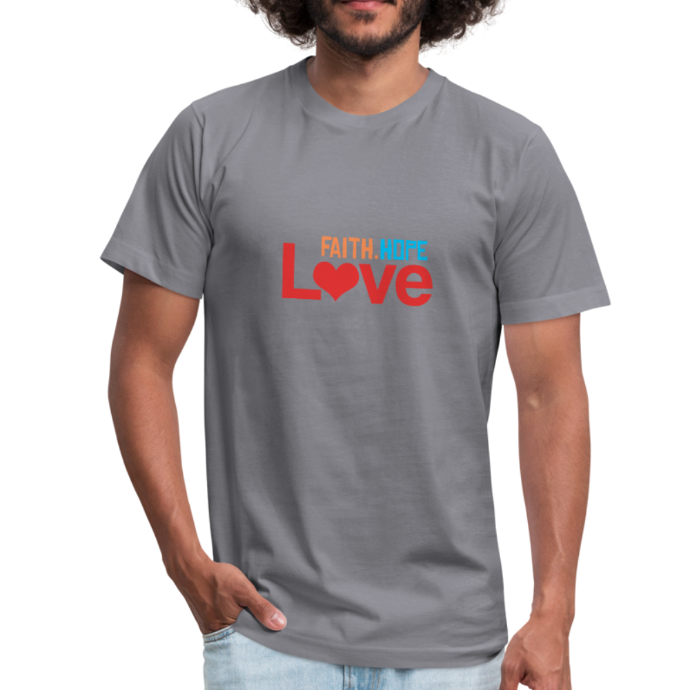 Faith Hope Love Men's Jersey Shirt - slate