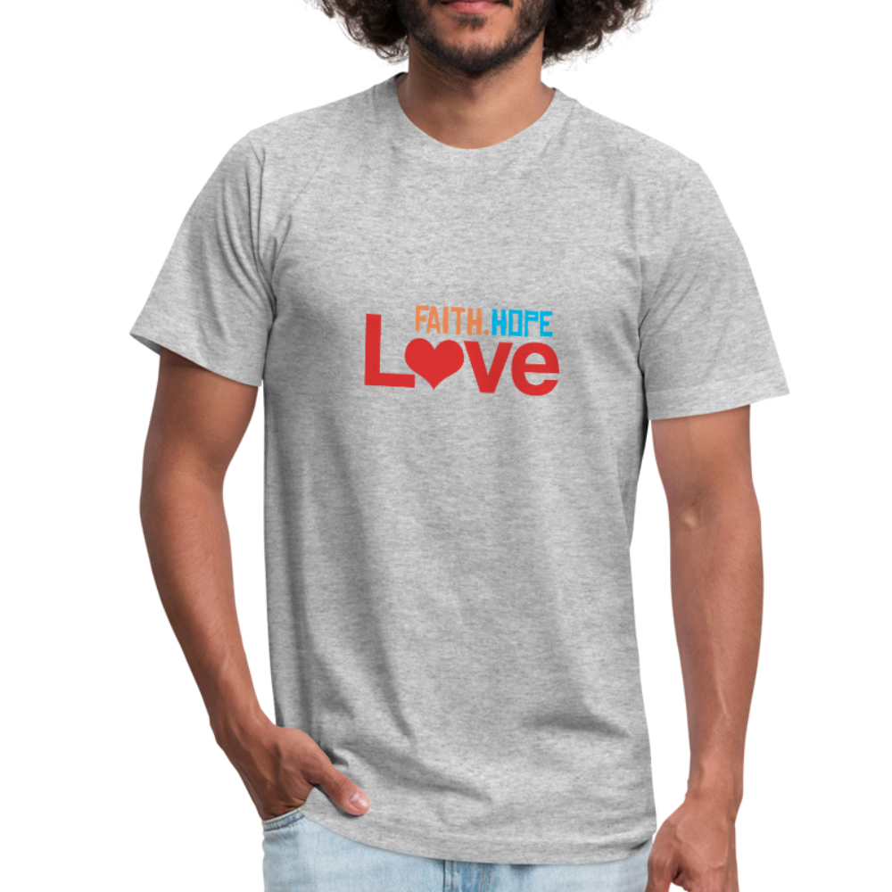 Faith Hope Love Men's Jersey Shirt - heather gray