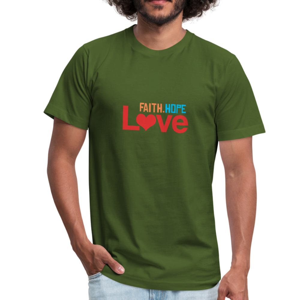 Faith Hope Love Men's Jersey Shirt - olive