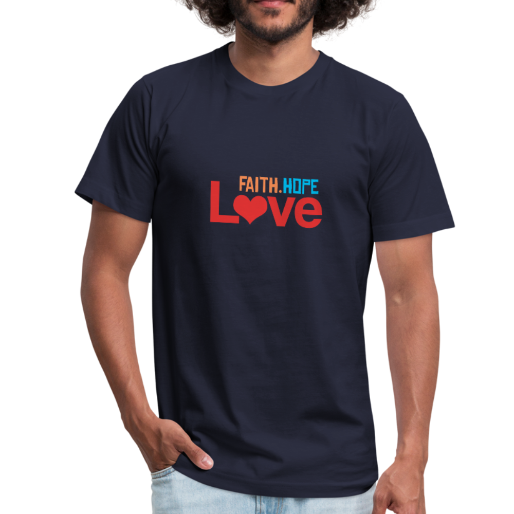 Faith Hope Love Men's Jersey Shirt - navy