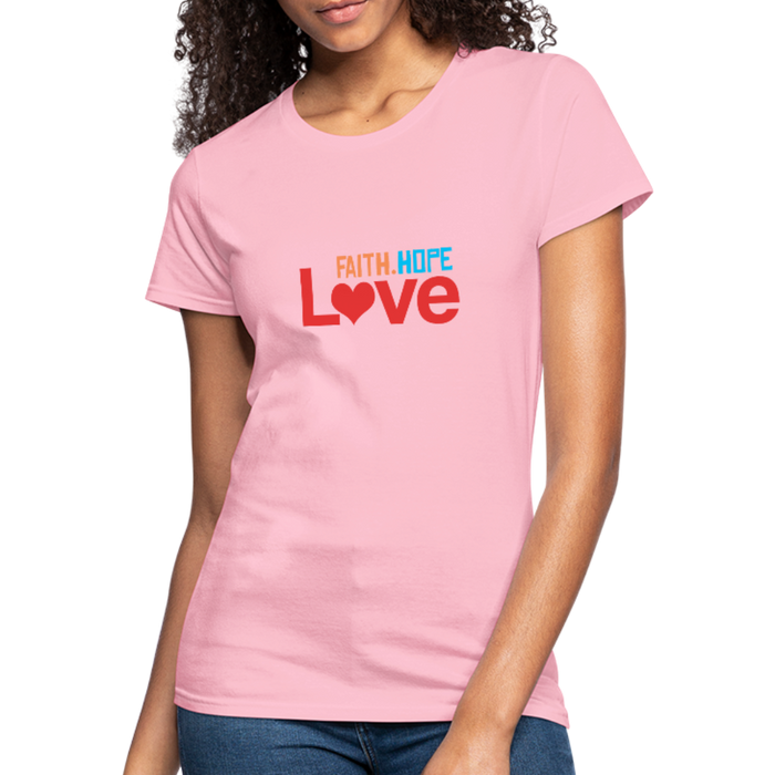 Faith Hope Love Women's Jersey Shirt - pink
