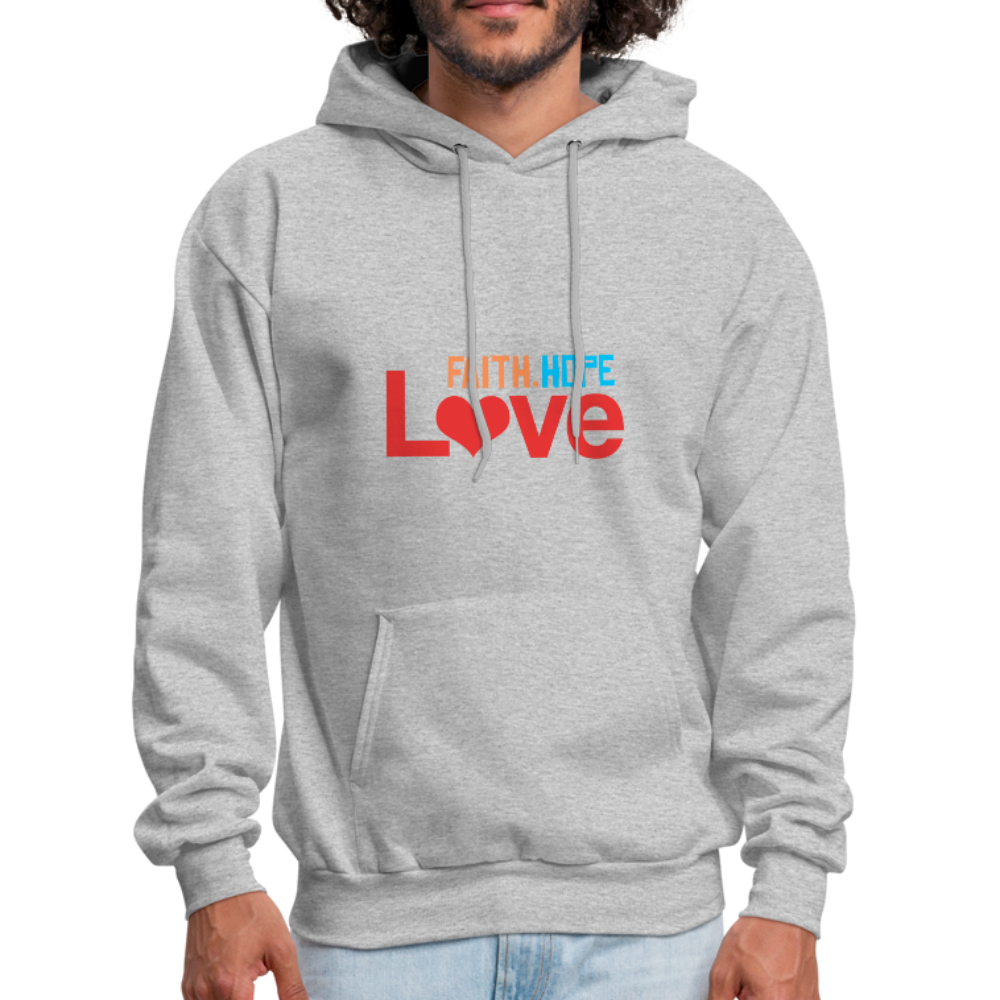 FaithHopeLove Men's Hoodie - heather gray