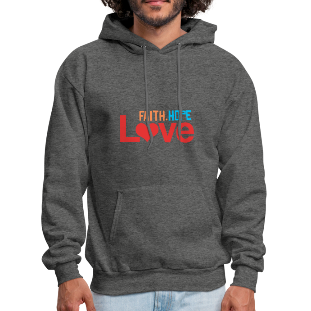 FaithHopeLove Men's Hoodie - charcoal gray