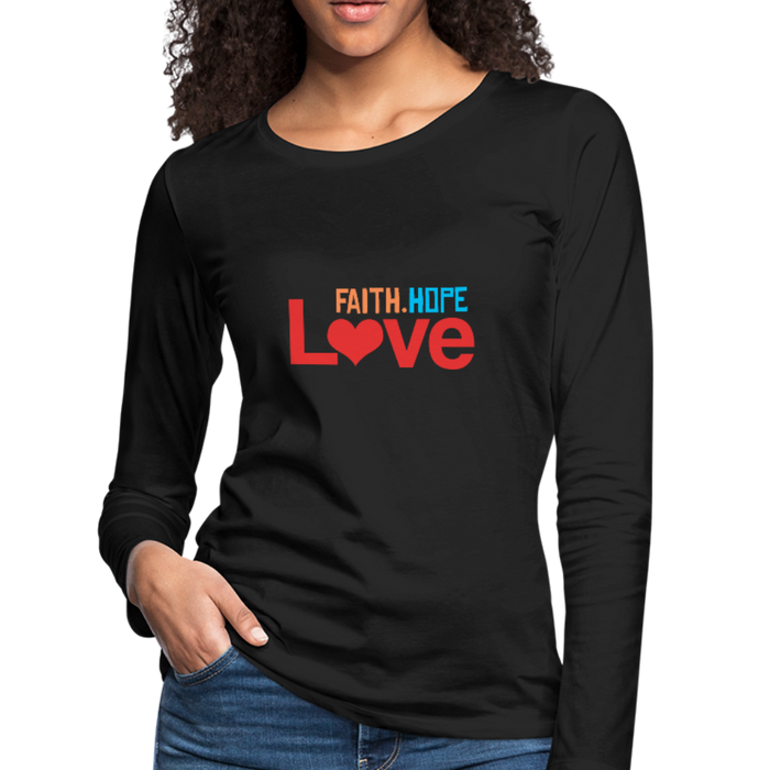 FaithHopeLove Women's Long Sleeve Tees - black