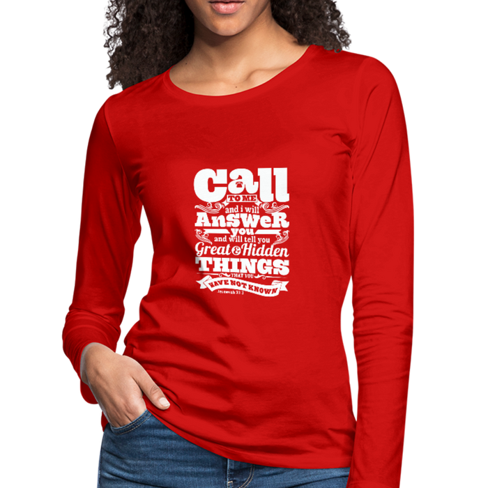Christian Women's Long sleeve Shirt (Call) - red