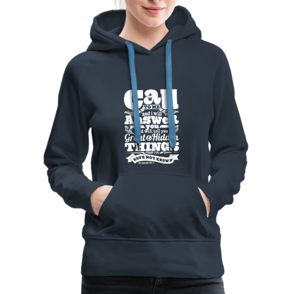 Christian Women's Hoodie (Call) - navy