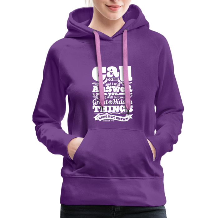 Christian Women's Hoodie (Call) - purple