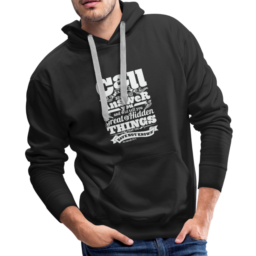 Christian Men's Hoodie (Call) - black