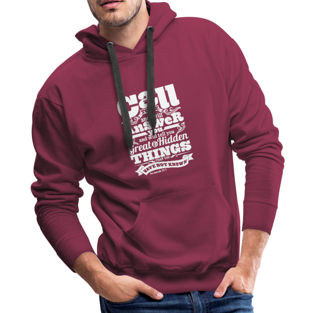 Christian Men's Hoodie (Call) - burgundy