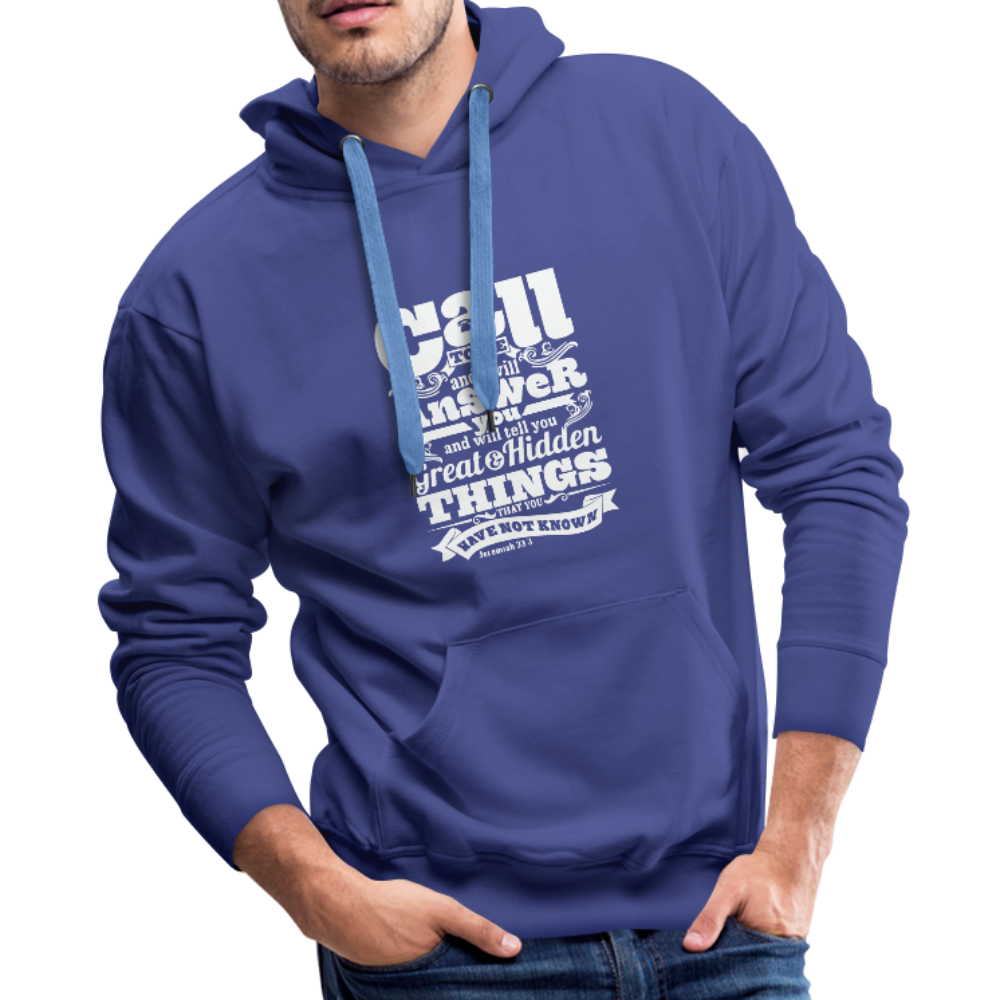 Christian Men's Hoodie (Call) - royalblue