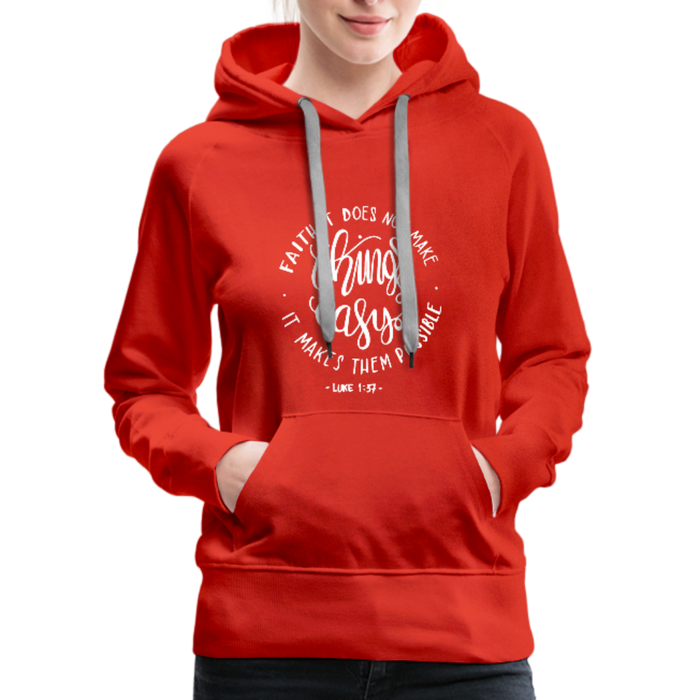 Christian Women's Hoodie (Faith) - red
