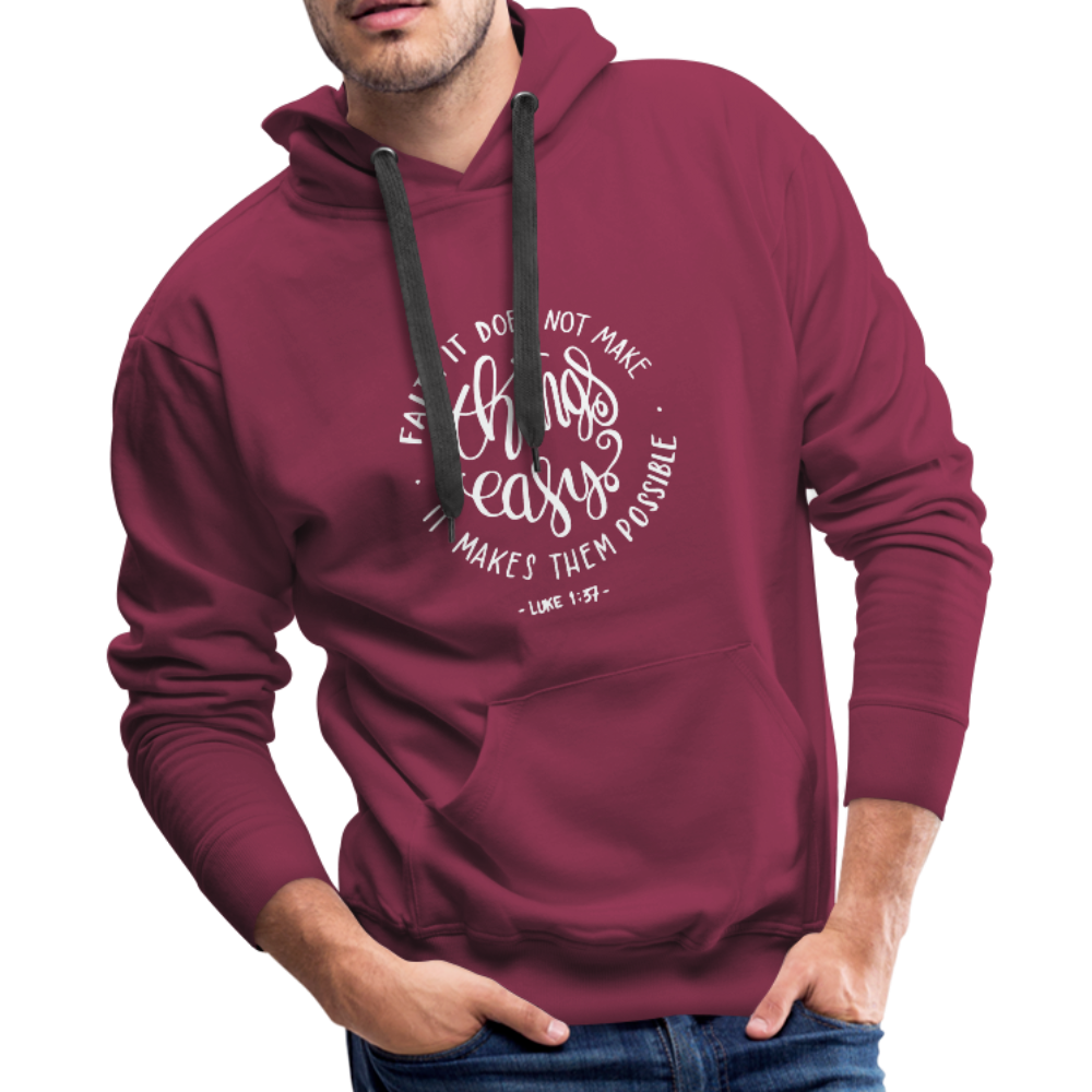 Christian Men's Hoodie (Faith) - burgundy