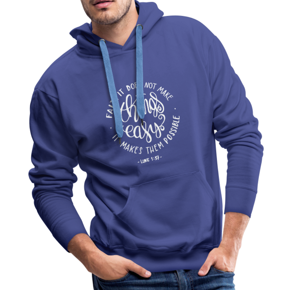 Christian Men's Hoodie (Faith) - royalblue