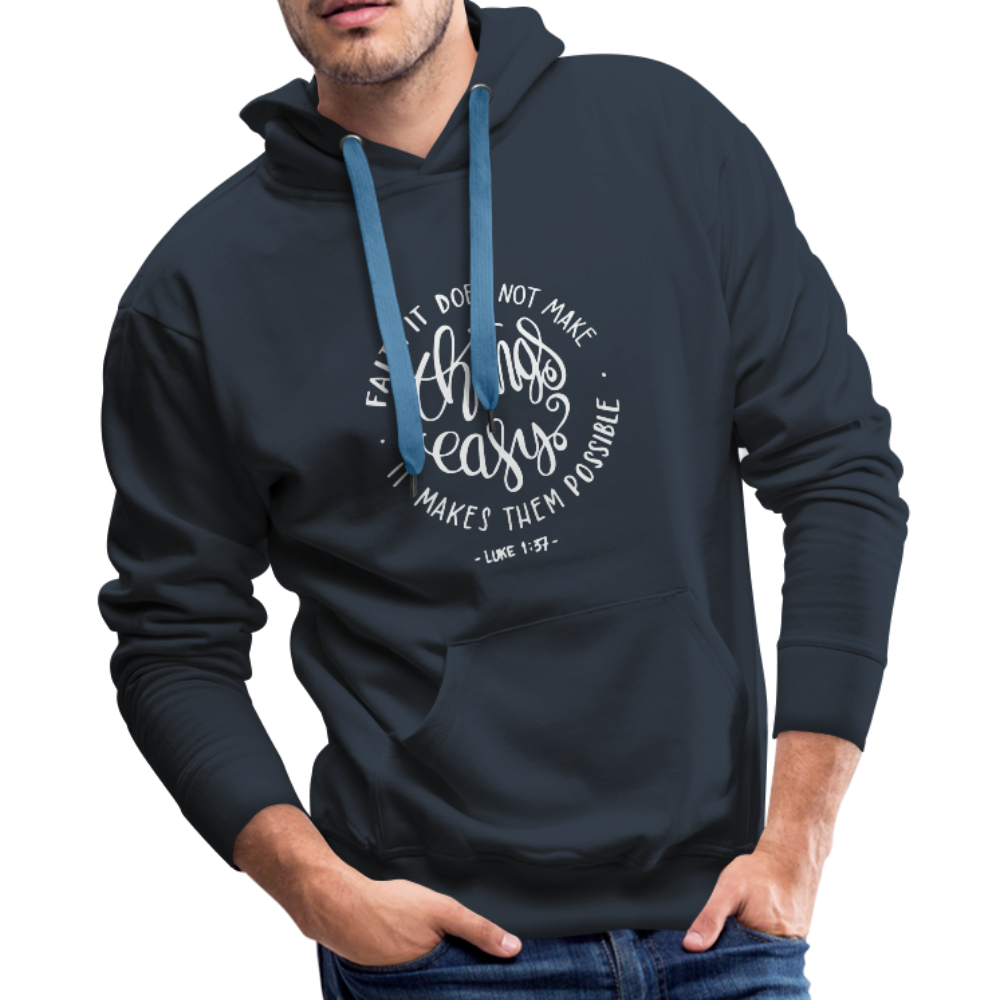 Christian Men's Hoodie (Faith) - navy
