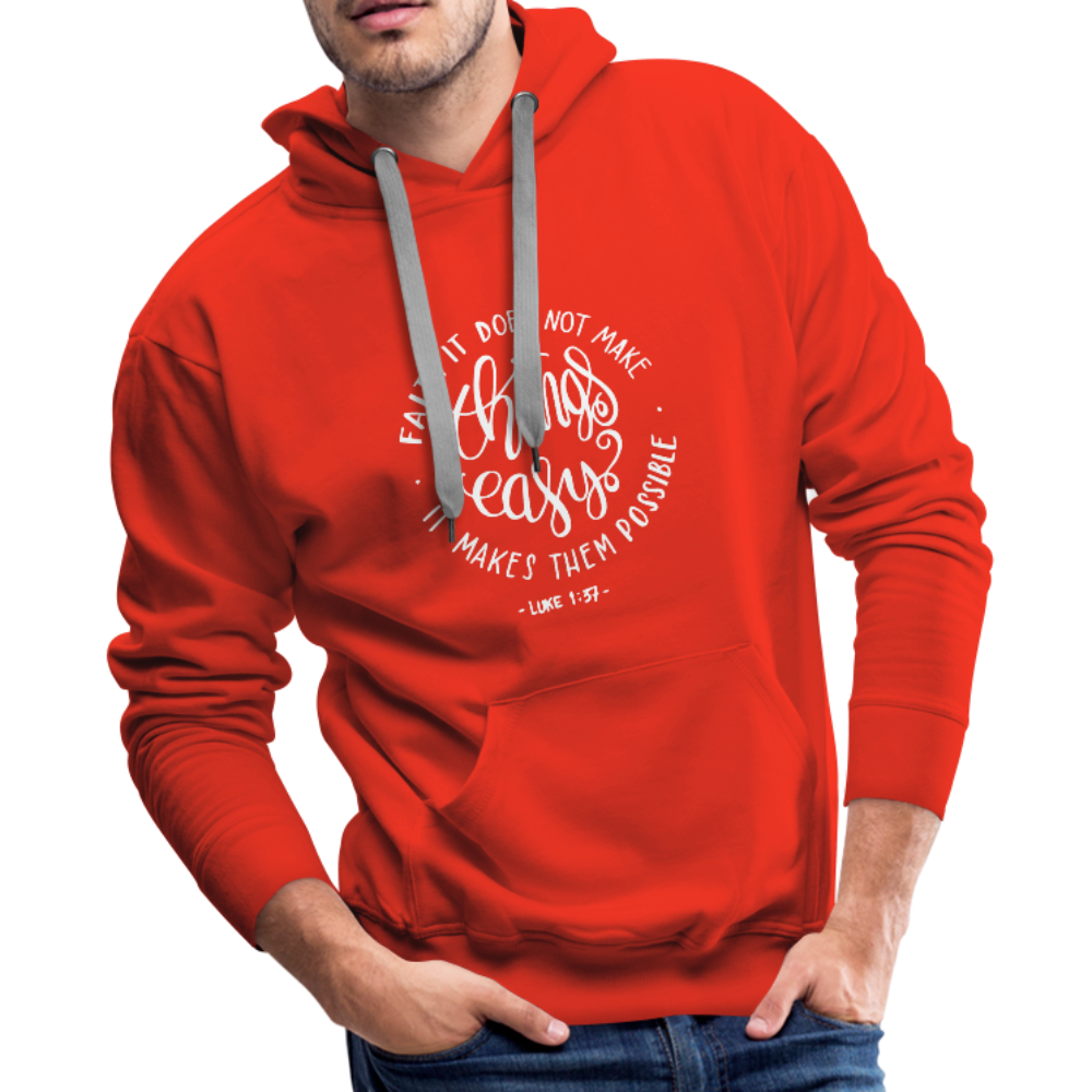 Christian Men's Hoodie (Faith) - red