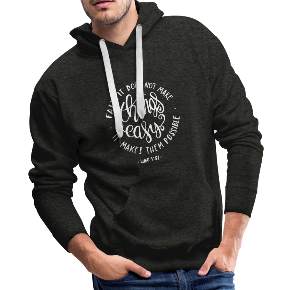 Christian Men's Hoodie (Faith) - charcoal gray