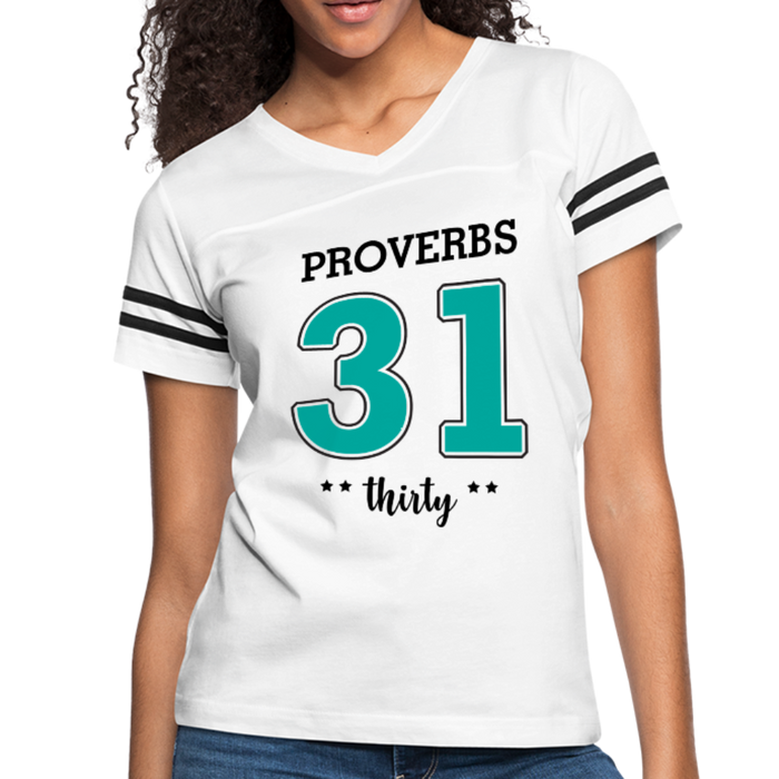 Provers 31:30 Women's Vintage Sport T-Shirt - white/black