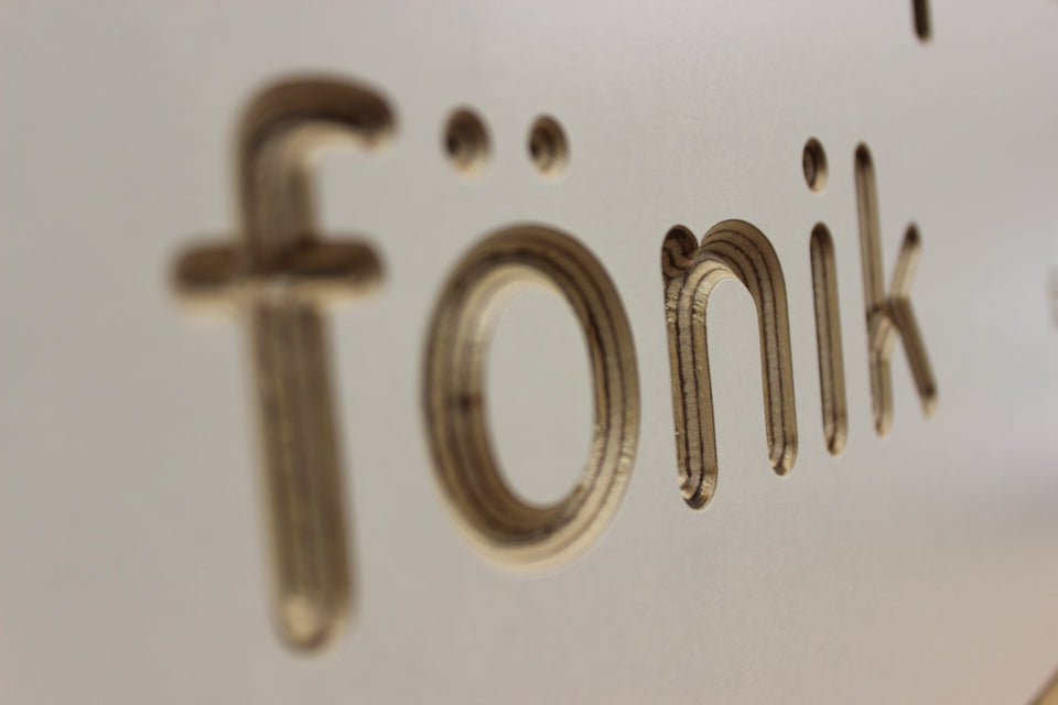 Fonik Logo CNC Machined
