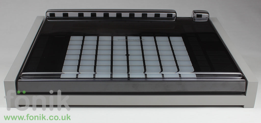 Grey Fonik Audio Stand For Ableton Push 2 With Decksaver Cover