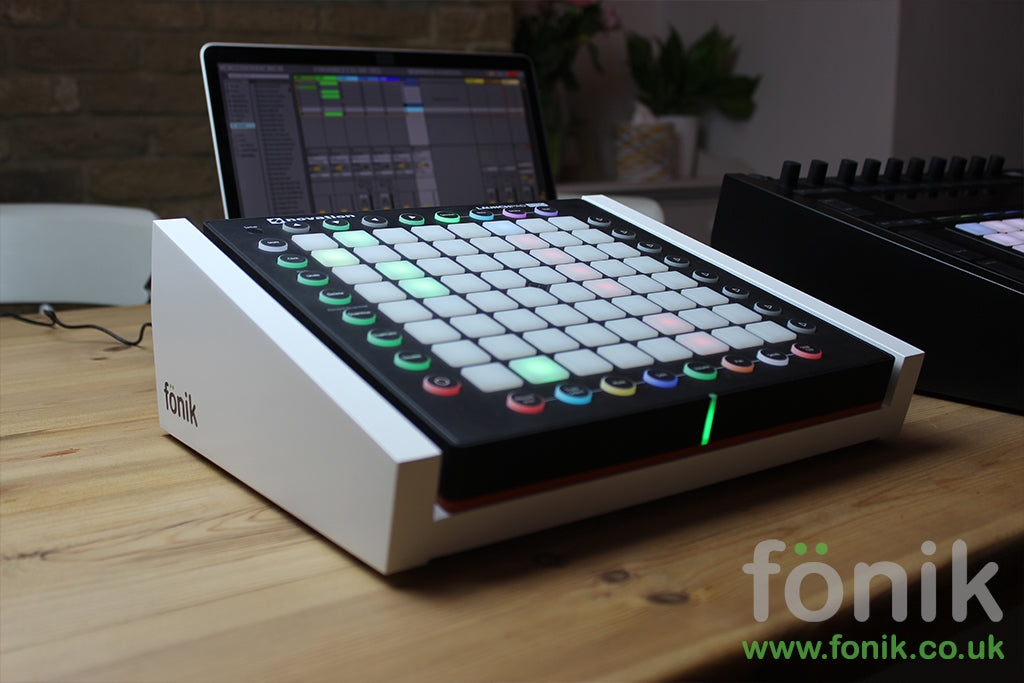 White Fonik stand for Novation Launchpad Ableton Controller