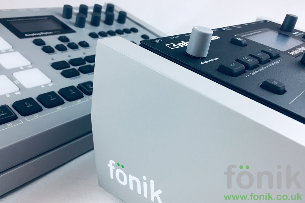 Grey Fonik Audio Innovations stand for Elektron musical instruments