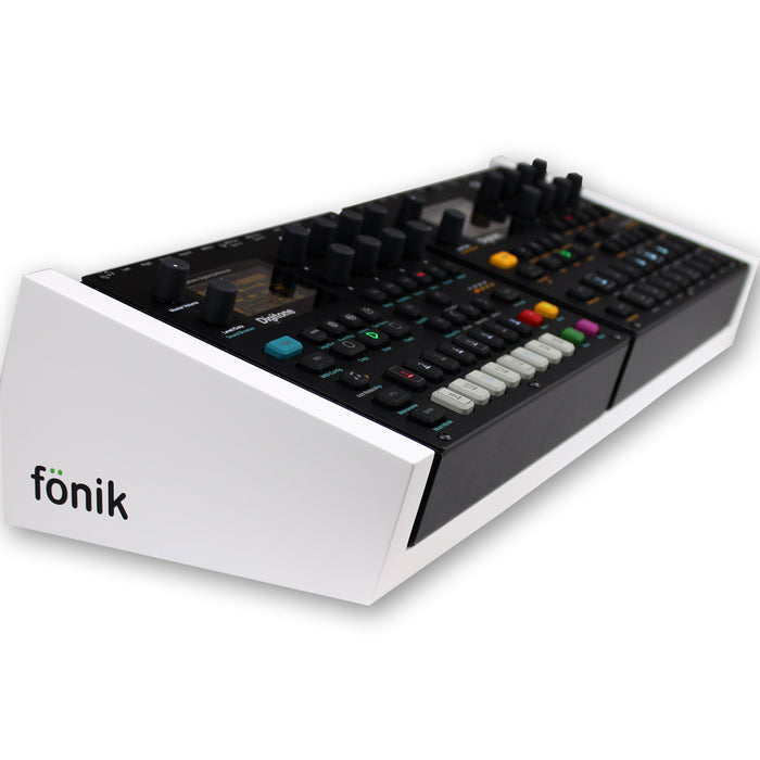 fonik stand for 2 elektron digitone or digitakt in white