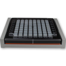 Load image into Gallery viewer, grey fonik stand for novation launchpad pro shown with decksaver cover