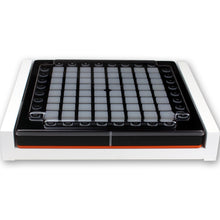 Load image into Gallery viewer, white fonik stand for novation launchpad pro shown with decksaver cover