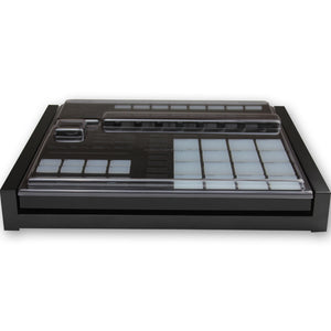 black fonik stand for ni maschine mk3 shown with decksaver cover