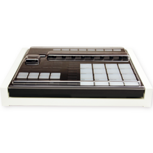Load image into Gallery viewer, white fonik stand for ni maschine mk3 shown with decksaver cover