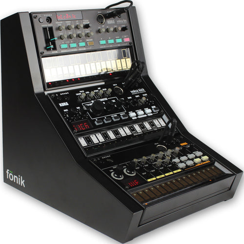 fonik stand for 3 korg volca in black