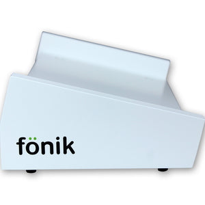 white fonik stand for akai fire side view