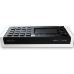 white fonik stand for akai mpc live front view