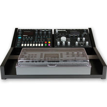 Load image into Gallery viewer, black fonik stand for elektron multi setup shown with decksaver cover